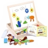 Kids Erasable Two Sides Drawing Board with Magnetic Puzzle Toys