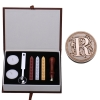 R Initial Letter Vintage Alphabet Wax Badge Seal Stamp w/Wax KitSet Letter A-Z Optional (Intl)