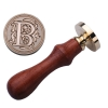 B Sealing Wax Classic Initial Wax Seal Stamp Alphabet Letter MRetro Wood (Intl)