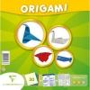 Clairefontaine - ORIGAMI Level 2, กระดาษสำหรับหัดพับรูปสัตว์ต่างๆ30 แผ่น คละสี พร้อมกับเอกสารวิธีการพับ 1 แผ่นและสติ้กเกอร์ดวงตารูปแบบต่างๆ 1 แผ่น