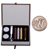 W Initial Letter Vintage Alphabet Wax Badge Seal Stamp w/Wax KitSet Letter A-Z Optional (Intl)