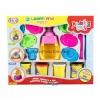ProudNada Toys ของเล่นเด็กชุดแป้งโดว์ 4 กระปุก+เครื่องทำไอศครีมModeling clay LEARN AND PLAY NO.6304(Light yellow)