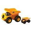 CAT รถบรรทุกเทหลังขนาดกลางและเล็ก (สีเหลือง) 2 ชิ้น