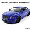 MZ โมเดลรถ BENTLEY Continental Supersports สีฟ้า (Scale 1:24)