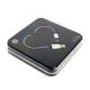 SOLOVE Sweetheart Cable for iPhone สายถักเคฟลาร์ ลายสีขาวสลับดำ