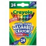 Crayola สีเทียนล้างออกได้ อัลตร้าคลีน 24แท่ง