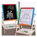 Kids Toys กระดานไม้ขาตั้งรุ่นมัลติฟังก์ชั่น 2 in 1 (กระดานดำ +กระดานไวท์บอร์ดแม่เหล็ก)(Blue)