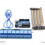ชุดยอดนิยม Arduino UNO R3 และ 5VDC 8-Channel Relay พร้อมสายจั้ม ผู้-เมีย