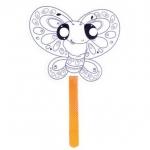 Avenue Mandarine - Graffy Stick (Butterfly), หน้ากากสำหรับระบายสีรูปผีเสื้อ ขนาด 21 x 21 ซ.ม.หน้ากากแข็งอย่างดี พร้อมไม้ถือเวลาเล่น
