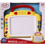 Funny Toys Musical Dooding Magnetic Board กระดานหัดเขียน รุ่น CN-32(สีเหลือง)