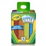 Crayola สีชอล์กล้างออกได้ แท่งใหญ่ 12แท่ง