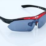 แว่นตาปั่นจักรยาน ROBESBON สีแดง
