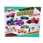 VcareForKids Mould & Paint Racers, ชุดทำ Magnetปูนปลาสเตอร์ระบายสี เซทรถแข่งเท่ห์ๆ