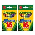 Crayola สีเทียน 16 สี ไร้สารพิษ (1ชุด/4ชิ้น)