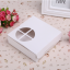 กล่องใส่ ทาร์ต พาย กระดาษขาว เจาะรูด้านหน้า 5 กล่อง BAKE188 thumbnail 3