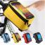 กระเป๋าคาดเฟรม ROSWHEEL ใส่มือถือสัมผัสได้ มีช่องออกหูฟัง BIKE290 สีเหลือง thumbnail 2