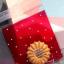 ถุงใส่คุ๊กกี้ ใส่ขนม ขนาด 10X10+3 CM 100 ถุง สีแดง BAKE197 thumbnail 1