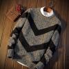 Men's sweater กันหนาวไหมพรม (สีเทาเข้ม)