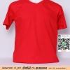 E.เสื้อเปล่า เสื้อยืดเปล่าคอวี สีแดง ไซค์ขนาด 32 นิ้ว