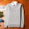 Super warm ticker men's sweater (สีขาว)