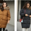 Bread down jacket korean style ( Black )