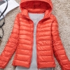 Women's Ultra light slim Down jacket ผสมขนเป็ด Duck down 90% !! (สีส้ม)