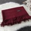 Imitation cashmere scarft ผ้าพันคอ (สีเลือดหมู)