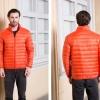 Men's Ultra light slim Down jacket ผสมขนเป็ด Duck down 90% !! (สีส้ม)