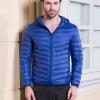 Men's Ultra light slim Down jacket ผสมขนเป็ด Duck down 90% !! (สีน้ำเงิน)