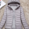 Women's Ultra light slim Down jacket ผสมขนเป็ด Duck down 90% !! (สีเทา)