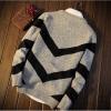 Men's sweater กันหนาวไหมพรม (สีเทาอ่อน)