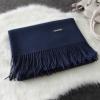 Imitation cashmere scarft ผ้าพันคอ (สีน้ำเงิน)