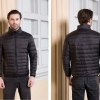 Men's Ultra light slim Down jacket ผสมขนเป็ด Duck down 90% !! (สีดำ)