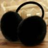 Furry Earmuffs ที่ปิดหูกันหนาว (สีดำ)