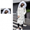 Big hair collar down jacket Woolen 90%