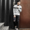 High quality fitting men's sweater (สีเทา)