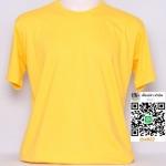 OL14.เสื้อเปล่า เสื้อยืดเปล่าคอกลม สีเหลือง
