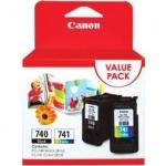 หมึกอิงค์เจ็ท Canon PG-740 + CL-741 Value Pack