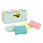กระดาษโน้ตหัวกาว Post-it 653-AST 1.5นิ้วx2นิ้ว คละ 4 สี แพ็คละ12 เล่ม