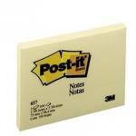 กระดาษโน้ตหัวกาว Post-it 657Y 3นิ้วx4นิ้ว สีเหลือง