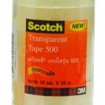 เทปใส Scotch 500 18มม.x33ม. แกน1นิ้ว แพ็ค6ม้วน