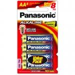 ถ่าน Panasonic AA อัลคาไลน์ แพ็คละ8ก้อน