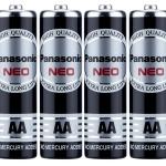 ถ่าน Panasonic AA Neo สีดำ แพ็คละ4ก้อน
