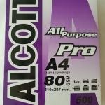 กระดาษถ่ายเอกสาร ALCOTT A4 80g Pro ม่วง