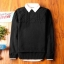 Super warm ticker men's sweater (สีดำ) thumbnail 1