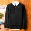 Super warm ticker men's sweater (สีดำ) thumbnail 1