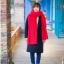 ผ้าพันคอถักไหมพรม (สีแดง) thumbnail 3