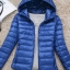 Women's Ultra light slim Down jacket ผสมขนเป็ด Duck down 90% !! (สีฟ้า) thumbnail 1