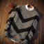 Men's sweater กันหนาวไหมพรม (สีเทาอ่อน) thumbnail 2