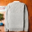Super warm ticker men's sweater (สีขาว) thumbnail 2